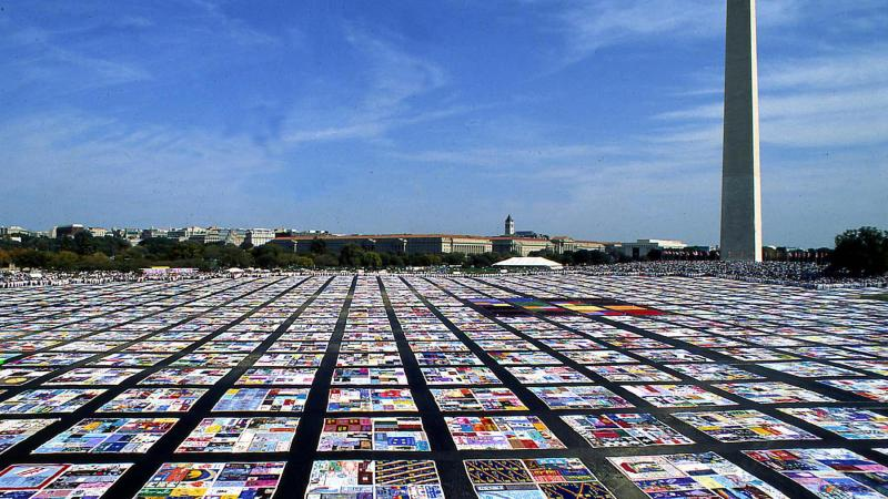 AIDS Quilt on the National Mall