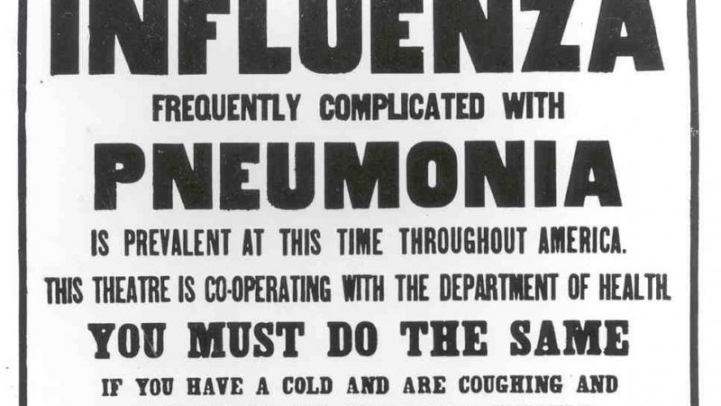 The Influenza Epidemic of 1918.
