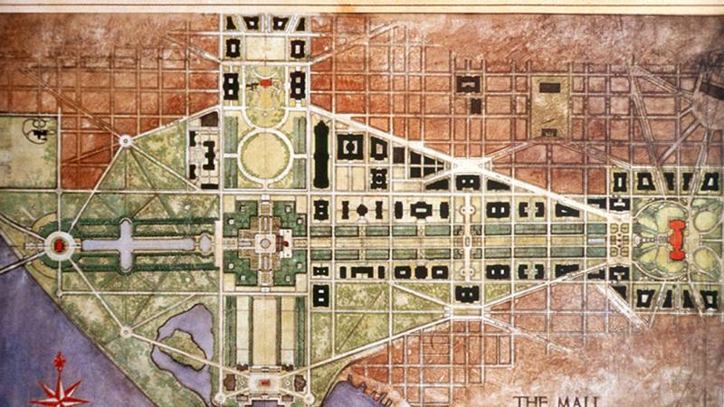 McMillan plan for the National Mall, 1901
