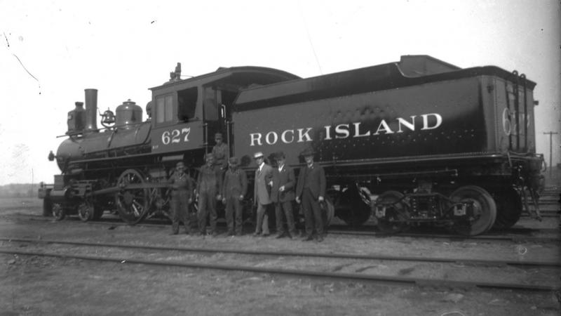 Rock Island locomotive 627, photograph by William Edward Hook